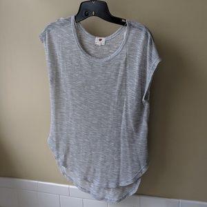 Silver Flowy Shirt